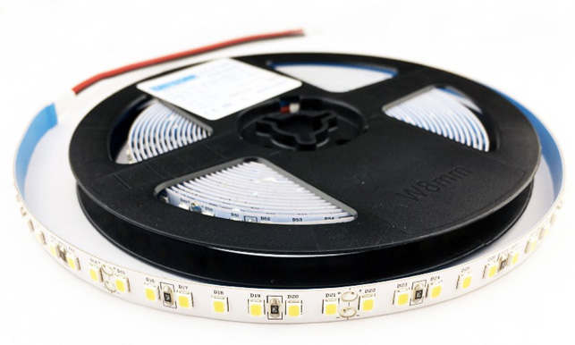 Kotúč s LED pásom v dĺžke 5m s dvoma prívodmi