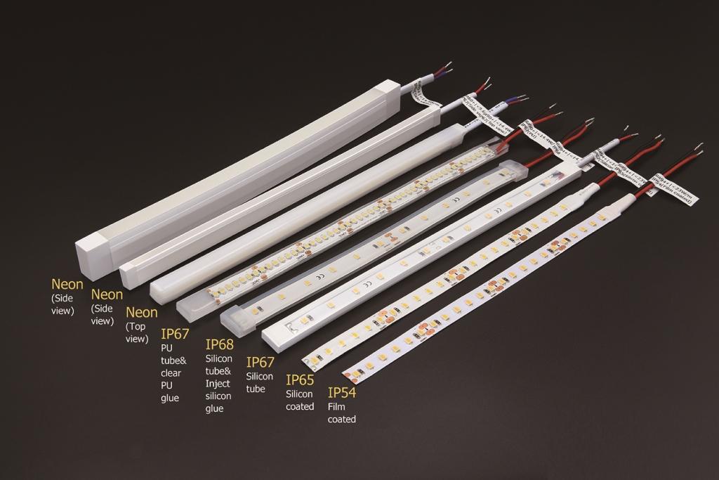 Na nasledujúcom obrázku môžete vidieť jednotlivé varianty vodotesných LED pásov