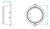 RF prijímaci modul 1009SAC Switch AC ON/OFF 100W