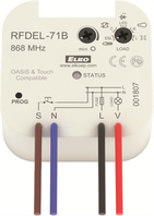 RF / OASiS & Touch Compatible prijímač 868 MHz, multifunkčné prevedenie Stmievací aktor
