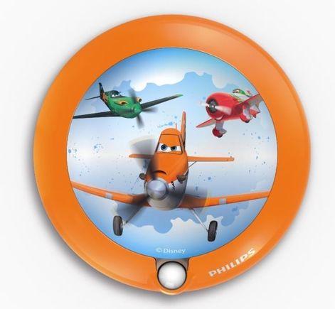 Disney Planes detské nočné svietidlo so senzorom, LED, 0.06W, bez baterií