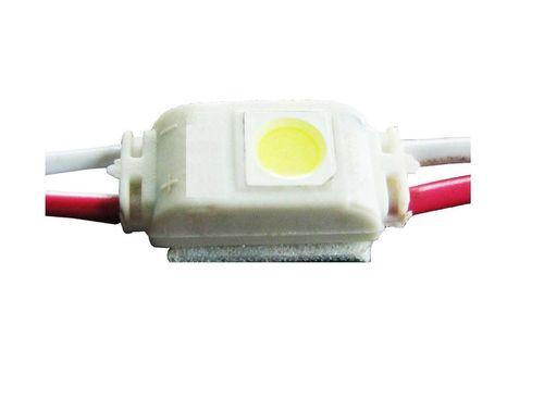 LED Modul 1x LED, 12VDC, 0,24W, 18-20lm, 16x7x5 mm IP65 medzi modulmi 6.5 cm studená biela