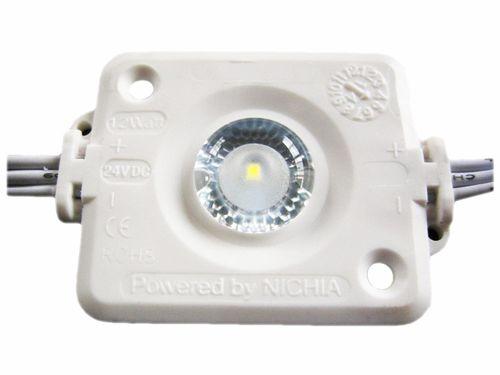 LED Modul 1x LED NICHIA LED, 12VDC, 160°, 1,2W, 120lm, 40x35x7,5 mm studená biela