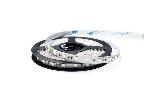 LED pás, 5050 SMD, 60pcs/m, 14,4W, IP00, RGB, 24V, širka 10mm