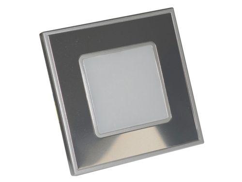 LED Svietidlo na stenu STEP LIGHT LED 1W, 60lm,4000K, Steel mirror
