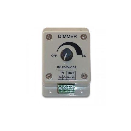 Otočný nástenný PWM stmievač pre LED pásy, DC12-24V, max 8A, 86x86x40m, farba biela