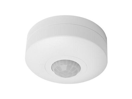 Stropný pohybový senzor PIR, 6m, 360°, max 1200W, IP20, farba biela