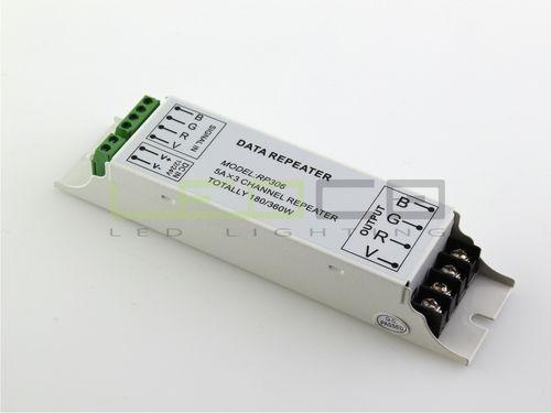 RGB Repeater RP306 3x 5A, 12/24V DC, 180/360W