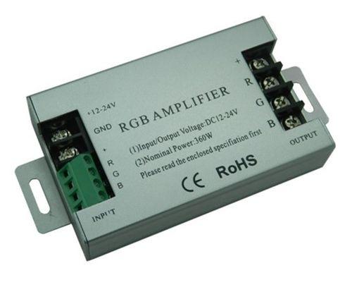 RGB Repeater ( zosilovač RGB signálu), 3X10A, 12/24V DC
