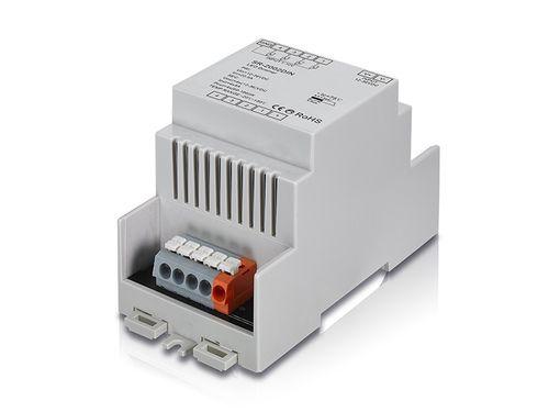 Stmievač dimmer 12-36V DIN,  1-10V,4x vstup, 4x 5A výstup, na DIN lištu
