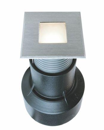 Zemné LED svietidlo, 0.4W, 24VDC, 3000K, 45x45x87, IP67