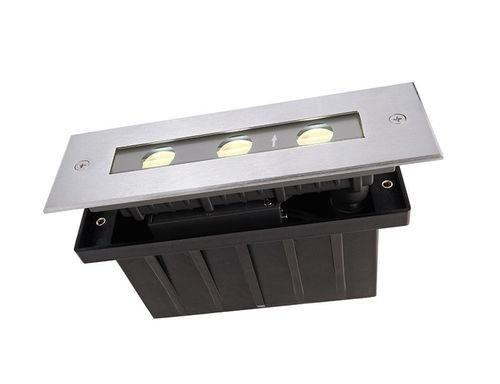 Zemné zápustné LED svietidlo, 230V, 4.5W, 340lm, 3000K, IP67, 195x63x65mm, asymmetric