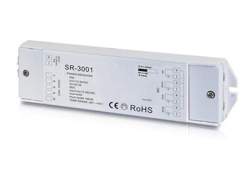 Zosilňovač (repeater) pre LED pásy, 4x5A , 12-36V DC, RGBW